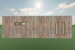 Elevacion-baño suite    103 m2Casa mediterranea prefabricada en U