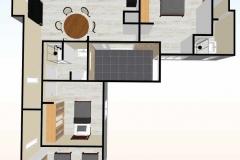 Planta2--3d-Casa-prefabricada-mediterranea-83m2-con-cocina-americana