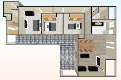 planta-3d-Casa-prefabricada-mediterranea-90m2-con-terraza