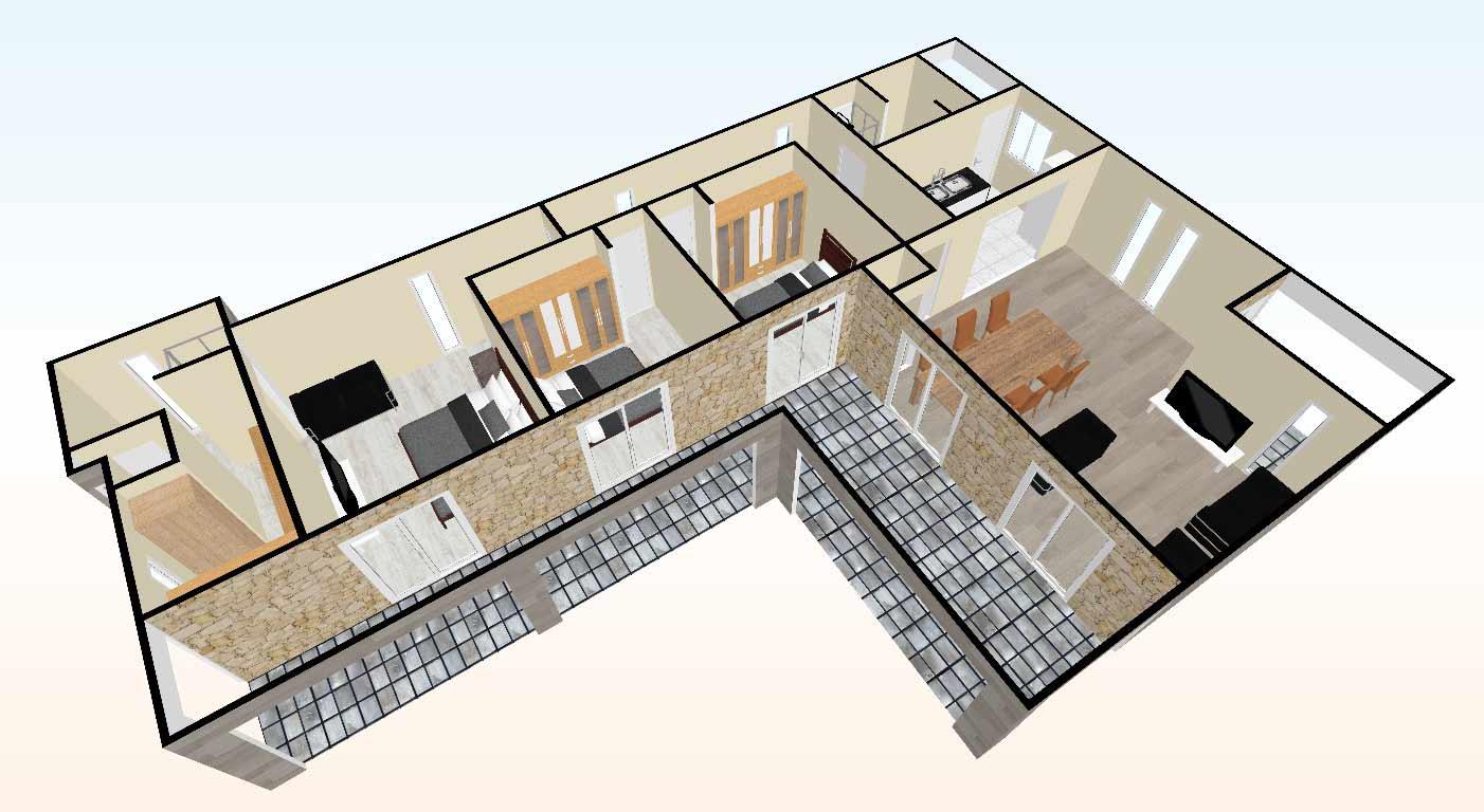 vista-aerea-virtual-3d-living-Casa-prefabricada-mediterranea-90m2-con-terraza